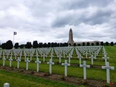 Ossuaire de Douaumont -  Verdun WWI cemetery, Douaumont ossuary on horizon is considered de minimis.