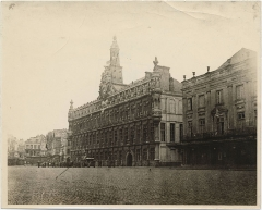 Hôtel de ville -  Item is a photograph from an album of World War One-related photographs in the William Okell Holden Dodds fonds. Brigadier General Dodds joined the Canadian Expeditionary Force in 1914 and was commanding officer of the 5th Canadian Division Artillery and served in France from 1917-1918.