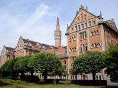 Hôtel de ville - Vue arrière de l'hôtel de ville de Lille (Nord).