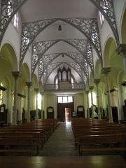 Eglise Notre-Dame du Tilleul ou église de Sous-le-Bois - Français:   Église Notre-Dame-du-Tilleul de Maubeuge nef
