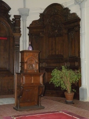 Eglise Notre-Dame du Tilleul ou église de Sous-le-Bois - Français:   Église Notre-Dame-du-Tilleul de Maubeuge tabernacle