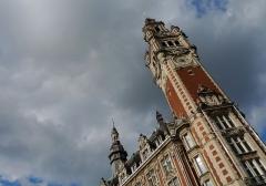 Chambre de Commerce et d'Industrie -  Lille (Dép. du Nord, France). Beffroi de la Chambre de commerce de Lille.