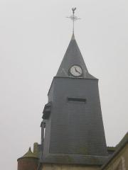 Eglise Saint-Lucien - Français:   Clocher de l\'église Saint-Lucien de Litz (Oise).