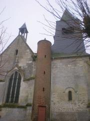 Eglise Saint-Lucien - Français:   Transept nord et clocher de l\'église Saint-Lucien de Litz (Oise).