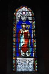 Eglise Saint-Jacques - Deutsch: Katholische Kirche Saint-Jacques in Pau im Département Pyrénées-Atlantiques (Région Aquitaine/Frankreich), Bleiglasfenster mit Signatur THIBAUD, Darstellung: Patrick von Irland