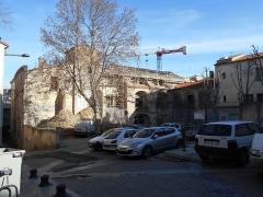 Couvent des Dames de Saint-Sauveur - Català: El convent de Sant Salvador des de ponent