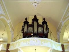Eglise Notre-Dame de l'Assomption - Français:   L\'orgue de l\'église Notre-Dame-de-l\'Assomption à Villé; instrument neuf de Joseph Rinckenbach en 1913 en conservant le buffet de l\'orgue de Jacque Besançon de 1767