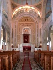 Patrimoine juif de la commune - Français:   Intérieur de la Synagogue de Thann, Alsace, Haut-Rhin, France