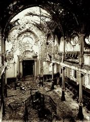 Patrimoine juif de la commune -  Intérieur de la synagogue de Thann après la guerre de 1914-1918