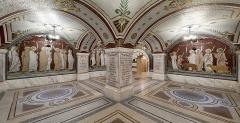 Ancien couvent de la Visitation, ancien hôpital de l'Antiquaille - Crypte réalisée entièrement en mosaïques à la fin du XIXème siècle, à la mémoire des martyrs de 177.