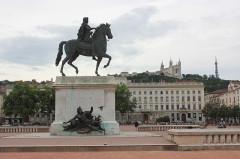Statue de Louis XIV - Polski: Lyon - pomnik Ludwika XIV
