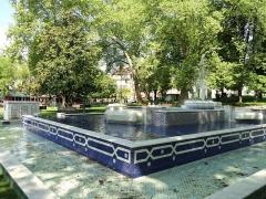 Parc thermal - English: Fontaine marocaine, in the Parc floral des Thermes, Aix-les-Bains, France.