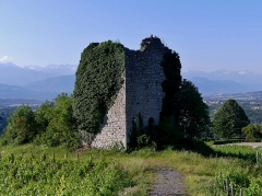 Site archéologique de Chignin - English: Sight of Verdun medieval tower of Chignin, in Savoie, France.