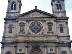 Église Saint-François-Xavier - Deutsch: Fassade der Kirche St. Franz Xaver der Fremdenmission, Paris, Region Île-de-France, Frankreich