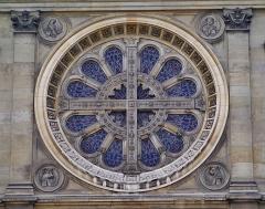 Église Saint-François-Xavier - Deutsch: Rosette der Kirche St. Franz Xaver der Fremdenmission, Paris, Region Île-de-France, Frankreich