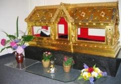 Église Saint-François-Xavier - English: St. Sophie Barat's body at Mad. Sophie Barat Center, Brussels (before 2009)