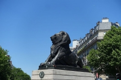 Monument du Lion de Belfort -  Statue of Lion @ Denfert Rochereau @ Paris