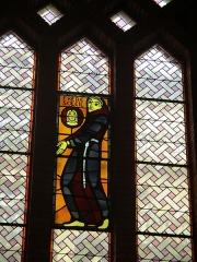 Couvent de franciscains dit Saint-François - Français:   Vitrail représentant saint François d\'Assise priant le Frère Soleil (couvent des Franciscains de paris).