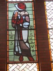 Couvent de franciscains dit Saint-François - Français:   Saint François d\'Assise et les oiseaux, vitrail de la chapelle du couvent des Franciscains de Paris.