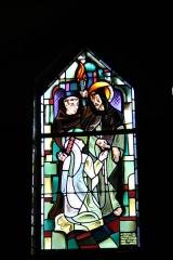 Couvent de franciscains dit Saint-François - Deutsch: Bleiglasfenster in der Kapelle (Seitenschiff) des Couvent des Franciscains in Paris (7, rue Marie-Rose im 14. arrondissement), Darstellung: hl. Franz von Assisi und Klara von Assisi