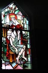 Couvent de franciscains dit Saint-François - Deutsch: Bleiglasfenster in der Kapelle (Seitenschiff) des Couvent des Franciscains in Paris (7, rue Marie-Rose im 14. arrondissement), Darstellung: hl. Elisabeth von Thüringen