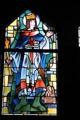 Couvent de franciscains dit Saint-François - Deutsch: Bleiglasfenster in der Kapelle (Seitenschiff) des Couvent des Franciscains in Paris (7, rue Marie-Rose im 14. arrondissement), Darstellung: hl. Ludwig