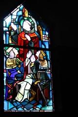 Couvent de franciscains dit Saint-François -  Bleiglasfenster in der Kapelle (Seitenschiff) des Couvent des Franciscains in Paris (7, rue Marie-Rose im 14. arrondissement), Darstellung: hl. Bonaventura predigt vor dem Comte de Navarre und dem hl. Ludwig