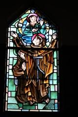 Couvent de franciscains dit Saint-François -  Bleiglasfenster in der Kapelle (Seitenschiff) des Couvent des Franciscains in Paris (7, rue Marie-Rose im 14. arrondissement), Darstellung: hl. Bernhardin von Siena und hl. Josef