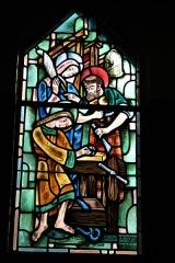 Couvent de franciscains dit Saint-François -  Bleiglasfenster in der Kapelle (Seitenschiff) des Couvent des Franciscains in Paris (7, rue Marie-Rose im 14. arrondissement), Darstellung: Heilige Familie