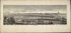 Eglise Saint-Pierre de Chaillot -  Veue [Vue] de Paris dessinée du Clocher de l\' Eglise de Chaillot. Gravé par [Philippe Nicolas] Milcent. Paris: E. Desrochers, 1733