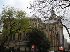 Église Notre-Dame-de-la-Croix - English: Notre-Dame de la Croix from the behind