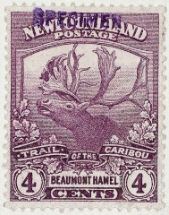 Mémorial terre-neuvien et parc commémoratif - English: In 1919 a special set of 12 stamps were issued to commemorate the services of the Newfoundland Regiment during World War 1. The phrase