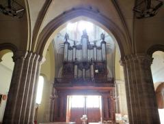 Eglise Saint-Sauveur - Français:   Castelsarrasin - Église Saint-Sauveur - Tribune de l\'orgue