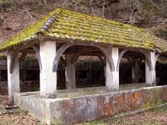 Fontaine-lavoir et abreuvoir - Français:   Fontaine-lavoir couverte à Saint-Dizier-l\'Evêque. Territoire de Belfort
