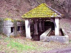 Fontaine-lavoir et abreuvoir - Français:   Lavoir du Val à Saint-Dizier-l\'Evêque. Territoire de Belfort