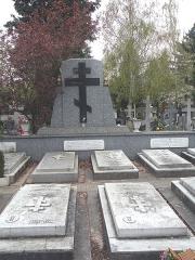 Cimetière de Liers - Русский:   Памятник генералу Дроздовскому и его соратникам