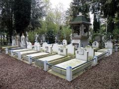 Cimetière de Liers - Русский:   Комплекс Генералу Алексееву и алексеевцам  на главном русском кладбище во Франции