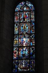Église Saint-Vincent-Saint-Germain - Deutsch: Katholische Pfarrkirche Saint-Vincent-Saint-Germain in Saint-Germain-lès-Corbeil im Département Essonne (Region Île-de-France/Frankreich), Bleiglasfenster aus dem 13. Jahrhundert im Chor; Darstellung: Wurzel Jesse