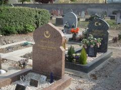 Cimetière musulman - Français:   Tombe moderne du cimetière musulman de Bobigny.