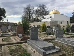 Cimetière musulman - Français:   Mosquée de la Cimetière musulman de Bobigny, en mars 2017 au Cimetière musulman de Bobigny.