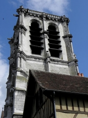 Eglise de la Madeleine et ancien cimetière - Église de la Madeleine à Troyes (10). Tour-clocher.
