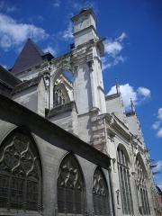 Eglise Saint-Jean - Français:   Église Saint-Jean-du-Marché de Troyes (Aube, France): flanc sud