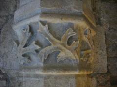 Ancien archevêché, actuellement Palais du Tau - Palais du Tau à Reims (Marne, France). Salle basse, chapiteau