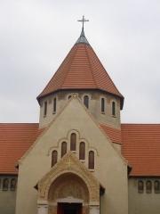 Eglise Saint-Nicaise - Église Saint-Nicaise de Reims (Marne, France), porche et clocher