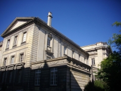Ancien hôtel-Dieu, actuellement annexe du palais de justice - Palais de justice de Reims (Marne, France), vu de la rue Tronson-Ducoudray