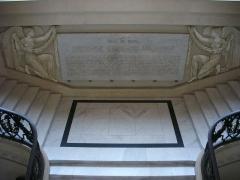 Hôtel de ville - Hôtel de ville de Reims (Marne, France), escalier monumental