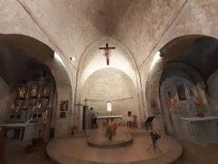 Eglise - Français:   Choeur et chapelles latérales de l\'église de Coursegoules