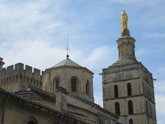 Cathédrale Notre-Dame-des-Doms - Deutsch: Avignon, Kathedrale Notre-Dame des Doms, Statue der Jungfrau Maria