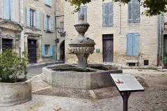 Fontaine - Deutsch: Caromb, La place du Château