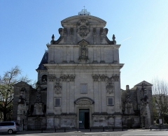 Eglise Saint-Bruno - Façade occidentale de l'église Saint-Bruno de Bordeaux (33).